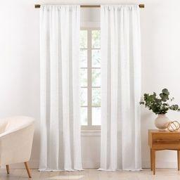 Gap Home Multi-Nep Organic Cotton Window Light Filtering Curtain Pair White 84 | Walmart (US)
