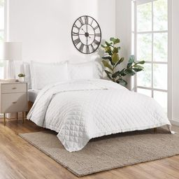 Gap Home Washed Frayed Edge Organic Cotton Quilt, King, White | Walmart (US)