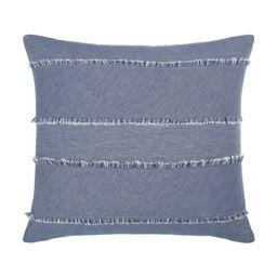 "Gap Home Frayed Denim Decorative Square Throw Pillow Dark Blue 22"" x 22"" | Walmart (US)"