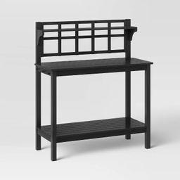 Blackened Wood Patio Potting Bench - Smith & Hawken™ | Target