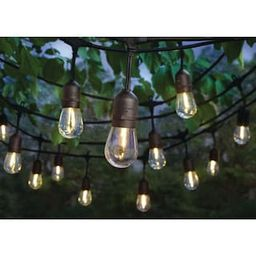 Hampton Bay 24-Light Indoor/Outdoor 48 ft. String Light with S14 Single Filament LED Bulbs-10328 ... | The Home Depot