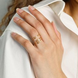 Duo Initial Ring • Custom Letter Ring by Caitlyn Minimalist • Couple Rings • Mothers Ring ...   Etsy (US)