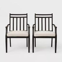 Fairmont 2pk Stationary Patio Dining Chair - Linen - Threshold™ | Target