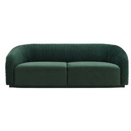 90.6'' Velvet Rolled Arm Sofa | Wayfair North America