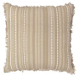 "Better Homes & Gardens Reversible Stripe Decorative Pillow, 20"" x 20"", Tan | Walmart (US)"