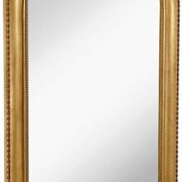 """Hamilton Hills Thick Rounded Top Gold Rich Framed Wall Mirror 40"""" x 30"""" 