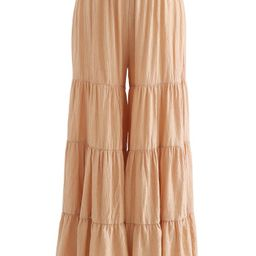 Sunny Days Wide-Leg Pants in Apricot | Chicwish