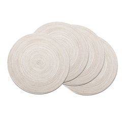 Coolmade Round Rop Cotton Braided Table Place Mats Braided Coaster Placemas Non-Slip Table Mats S... | Walmart (US)