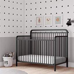Baby Relax Juniper 4-in-1 Convertible Metal Crib, Matte Black | Amazon (US)