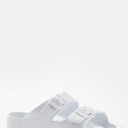White Double Buckle Sandals | Cato Fashions