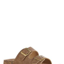 Double Buckle Footbed Sandals   Cato Fashions