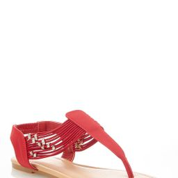 Embellished Stretch Thong Sandals | Cato Fashions