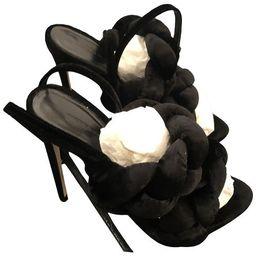 Cloth sandal  - Black 72 | Vestiaire Collective (Global)