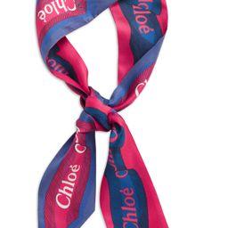 Charlie Logo Print Reversible Silk Skinny Scarf | Nordstrom