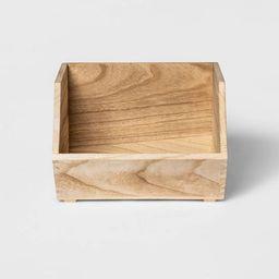 Stackable Wood Storage Bin Natural - Pillowfort™ | Target