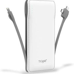 TG90 Portable Charger 10000mah Cell Phone Battery Backup, Ultra Slim Power Bank with Built in Cab... | Amazon (US)
