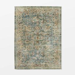 Ledges Digital Floral Print Distressed Persian Rug Green - Threshold™ designed by Studio McGee | Target