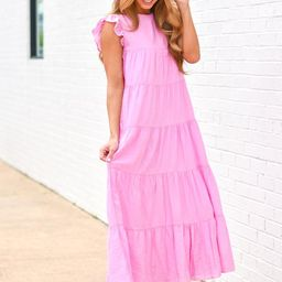 Catch My Wave Maxi Dress - Pink | The Impeccable Pig