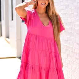 Pretty Please Babydoll Dress - Hot Pink | The Impeccable Pig