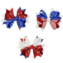 Astra Gourmet Patriotic Grosgrain Hair Bow Clips, 3 Pack Baby Girls American Flag Hair Bow Hair C...   Amazon (US)