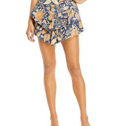 The Ruffle Floral Print Mini Skirt   Bloomingdale's (US)