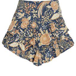Ruffled Floral Mini Skirt   INTERMIX
