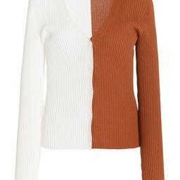 Cargo Colorblock Ribbed-Knit Cardigan   Moda Operandi (Global)