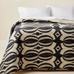 Printed Quilt Black/Tan - Opalhouse™ designed with Jungalow™   Target