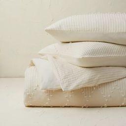 Diamond Clipped Duvet Cover & Sham Set Cream - Opalhouse™ designed with Jungalow™   Target