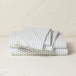 Printed Cotton Percale Sheet Set - Opalhouse™ designed with Jungalow™   Target