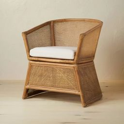 Selma Wicker Barrel Chair with Cushion Ivory - Opalhouse™ designed with Jungalow™   Target