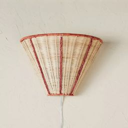 Woven Sconce Natural with Trim (Includes Light Bulb) Brown - Opalhouse™ designed with Jungalow...   Target