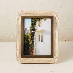 """8"""" x 10"""" Rattan/Glass Photo Frame Beige - Opalhouse™ designed with Jungalow™   Target"""