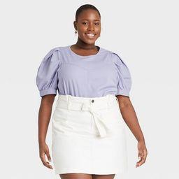 Women's Puff Short Sleeve Blouse - Universal Thread™ | Target