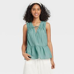 Women's Smocked Tank Top - A New Day™ | Target
