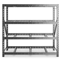 Gladiator 4-Tier Welded Steel Garage Storage Shelving Unit (77 in. W x 72 in. H x 24 in. D)-GARS7...   The Home Depot