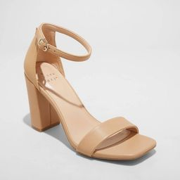 Women's Ema High Block Square Toe Sandals - A New Day™   Target
