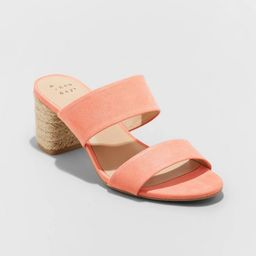 Women's Patricia Espadrille Block Heeled Pumps - A New Day™   Target