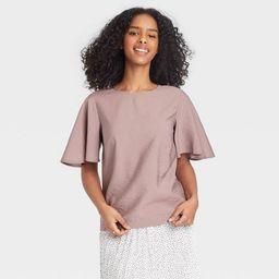 Women's Flutter Short Sleeve Top - A New Day™ | Target