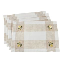 Fennco Styles Hommage Brodé Collection Cottage Embroidery Hemstitch Border Placemats 14 x 19 I... | Walmart (US)