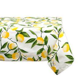 "DII Lemon Bliss Print Tablecloth, 52""x52"", 100% Cotton   Walmart (US)"