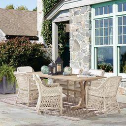 Teak Rectangular Farmhouse Dining Table | Frontgate | Frontgate