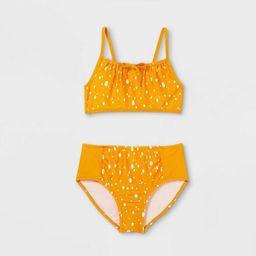 Girls' Dotted High Waist 2pc Bikini Set - Cat & Jack™ Yellow | Target