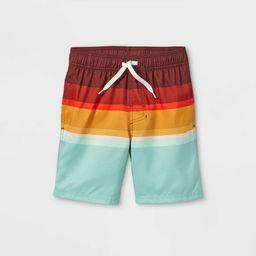 Boys' Colorblock Swim Shorts - Cat & Jack™ Red | Target