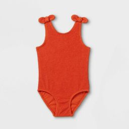 Toddler Girls' Bow Shoulder Bikini Set - Cat & Jack™ Rust | Target