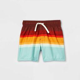Toddler Boys' Colorblock Swim Shorts - Cat & Jack™ Red | Target