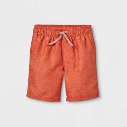 Boys' Solid Swim Shorts - Cat & Jack™ Rust | Target