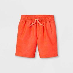 Boys' Solid Swim Shorts - Cat & Jack™ Orange | Target