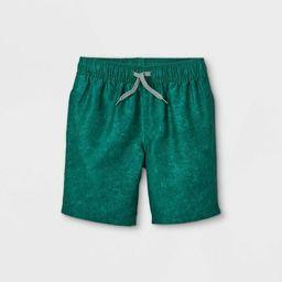 Boys' Solid Swim Shorts - Cat & Jack™ Dark Green | Target
