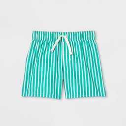 Toddler Boys' Pin Striped Swim Shorts - Cat & Jack™ Green | Target